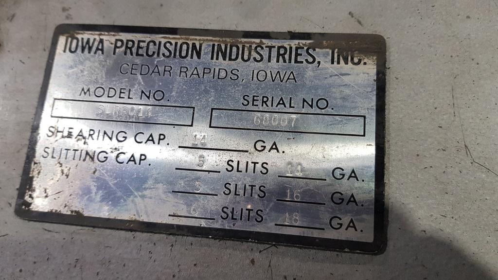 IOWA Precision slitting machine 1500 2 SLR 60 14 (11)